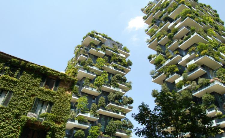 Telhado verde condominios Bosco Verticale Italia Floresta Vertical