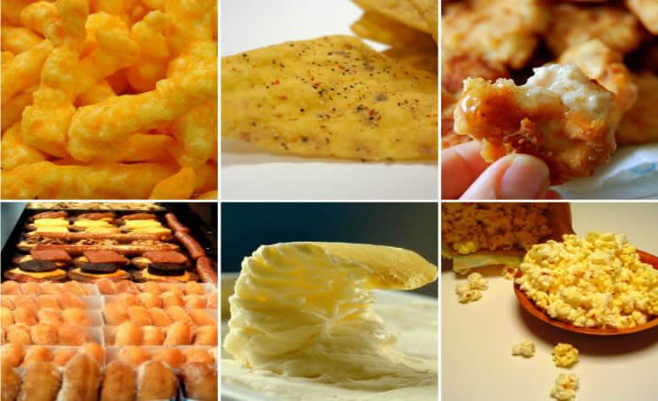Alimentos com diacetil