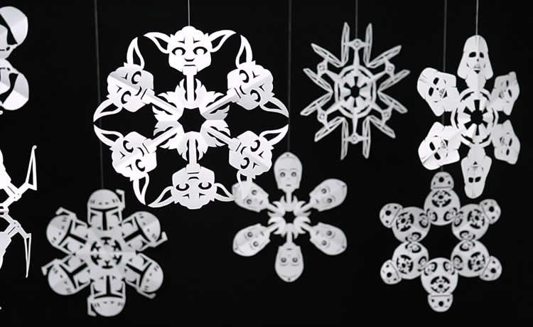 """Aprenda a fazer uma decoração """"floco de neve"""" de Star Wars"""