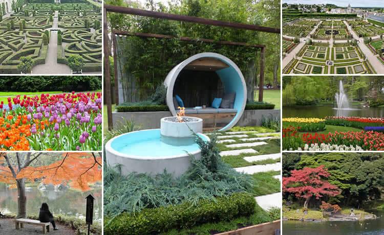 parques e jardins internacionais que conciliam natureza e arquitetura