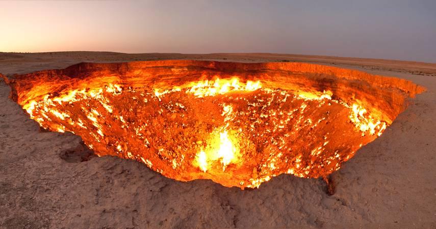 """""""Porta para o inferno"""" Derweze, Turkmenistan"""
