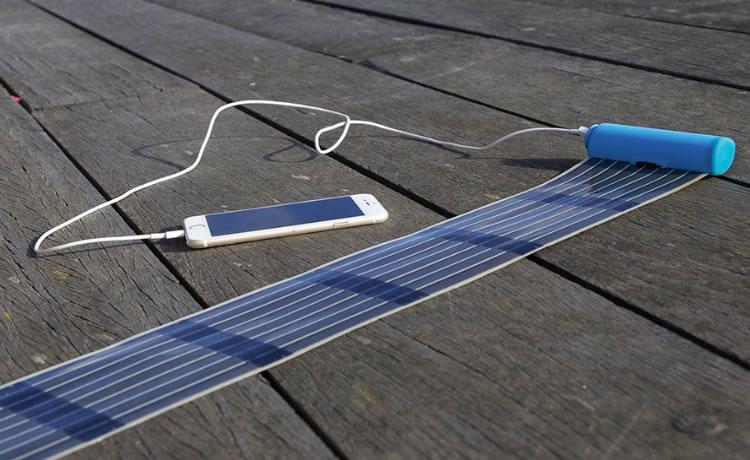 HeLi-on é o carregador solar retrátil