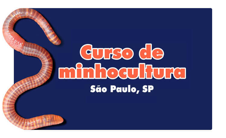 Curso sobre minhocultura em São Paulo