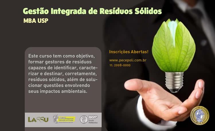 MBA USP em gestão de resíduos sólidos é um dos cursos oferecidos